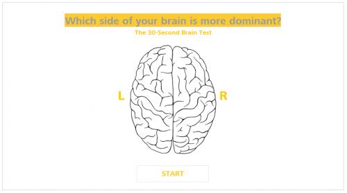 ทดสอบการใช้งานสมองซีกซ้าย และซีกขวา